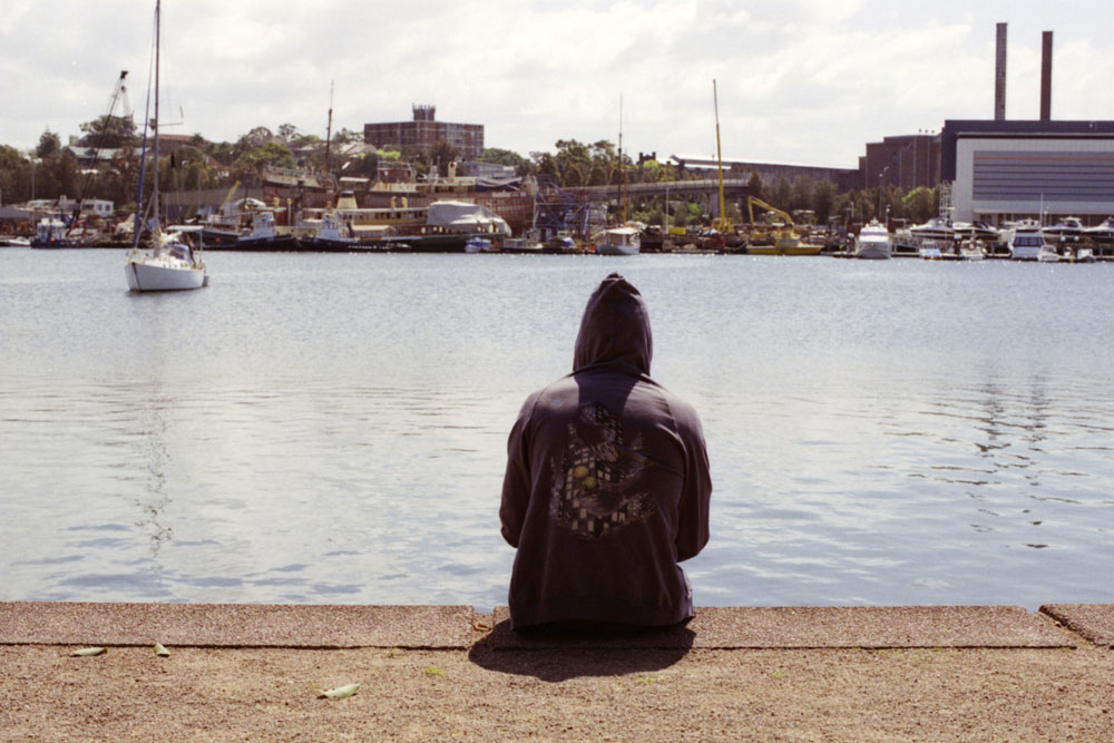 Hoodie and the sea